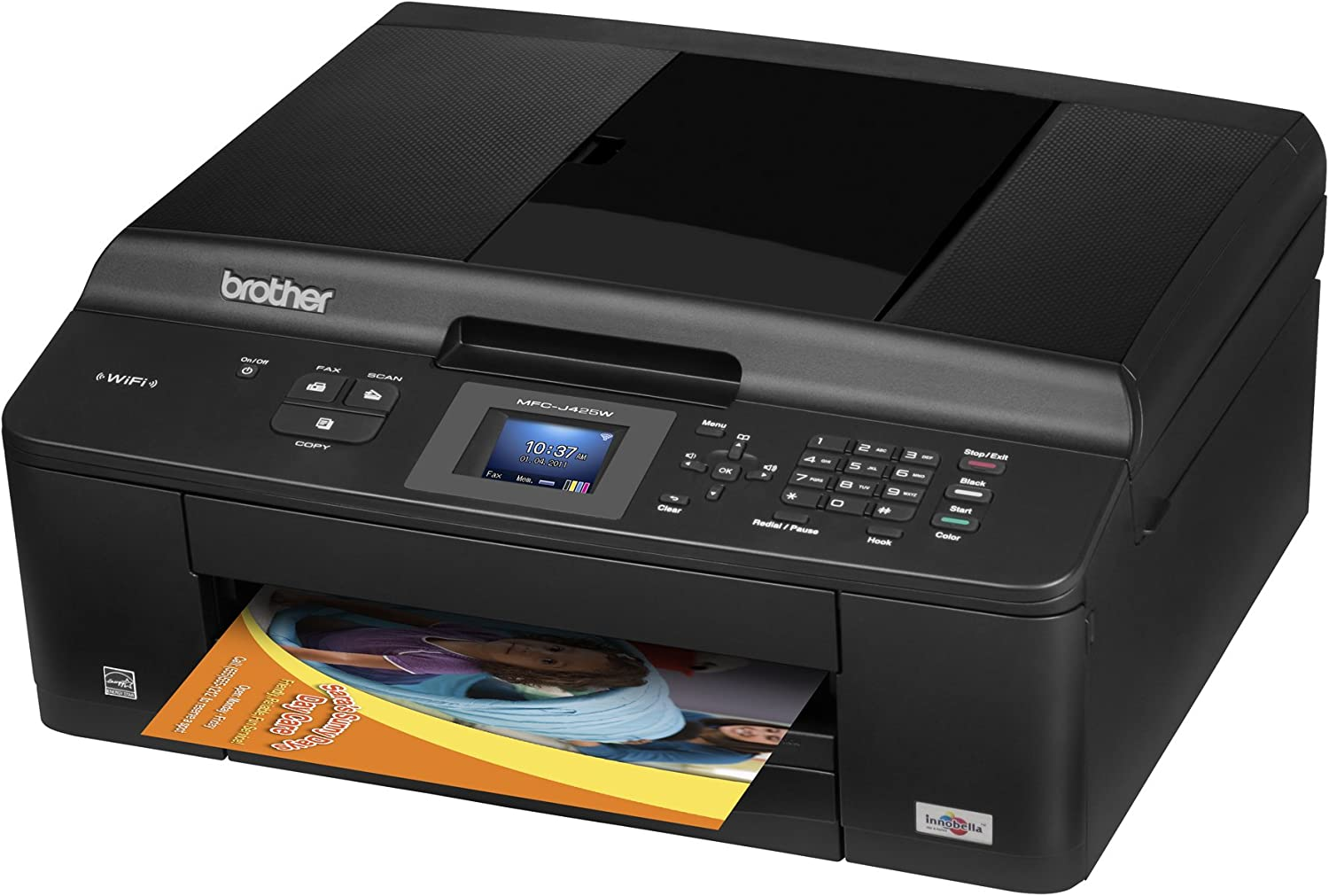 Brother Printer MFCJ425W Wireless Color Photo Printer with Scanner, Copier and Fax