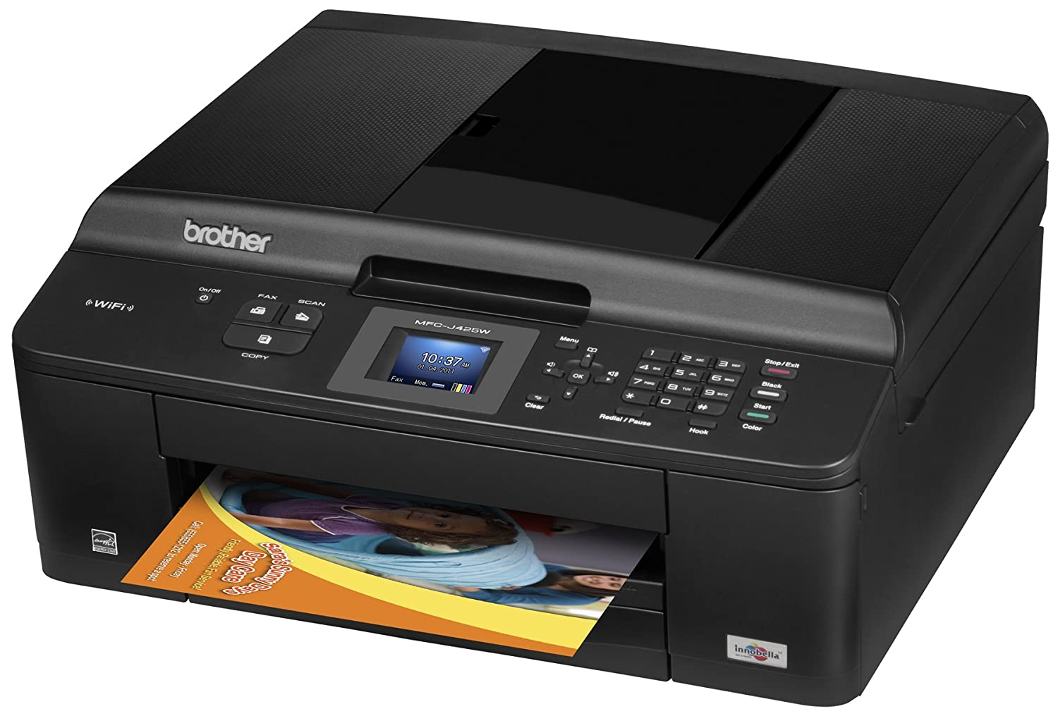 Amazon Brother Printer MFCJ425W Wireless Color Photo With Scanner Copier And Fax Office Products