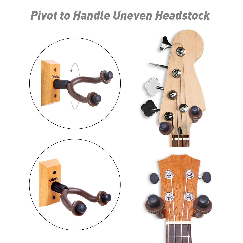 Ohuhu Madera Home & Studio Guitarra Percha (2 paquetes): Amazon.es: Instrumentos musicales