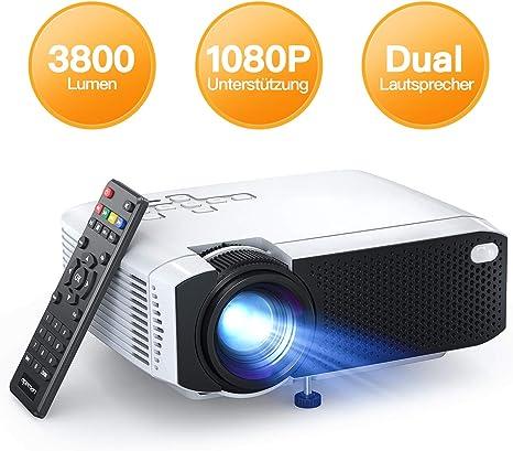 Proyector portátil Apeman, 3500 lúmenes, soporta Full HD 1080P ...