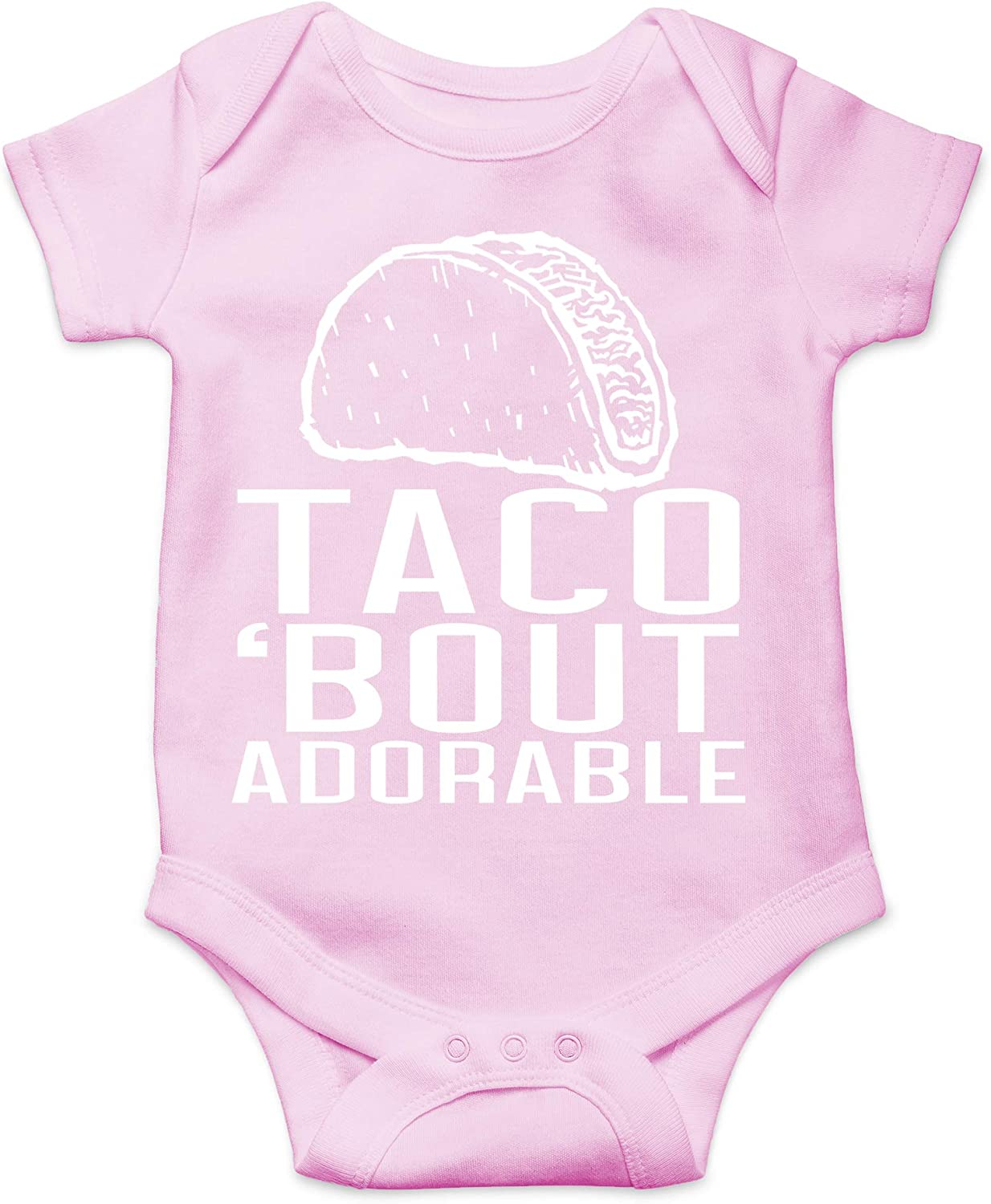 Taco Bout Adorable - Funny Mexican Food Parody Unisex Baby Cotton Bodysuit - Infant One-Piece Romper Outfit