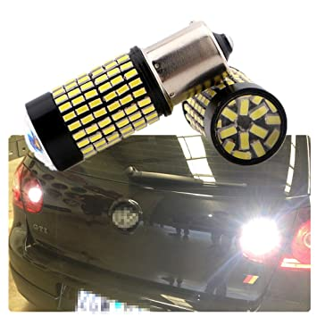 Fezz Bombillas LED Coche Luz Inversa Canbus S25 Ba15S 1156 4014 144Smd Señales de Giro Lám: Amazon.es: Coche y moto