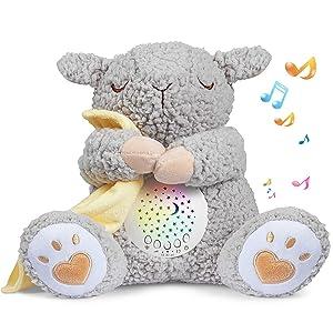 BEREST Baby White Noise Machine, Lullabies & Shusher Sheep Sleep Soother, Nursery Decor Night Light Projector, Toddler Crib Sleep Aid, Baby Shower Gifts Portable SheepToy??