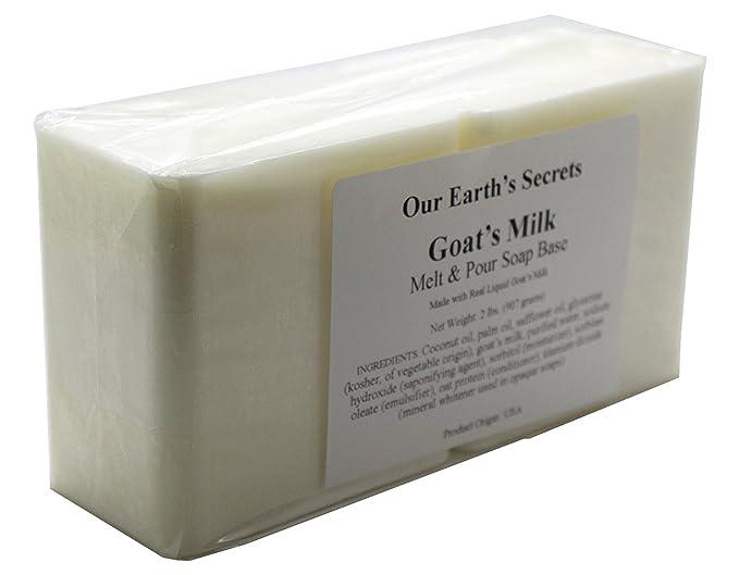 Leche de cabra - 2 libras Melt y base de jabón de pour - Nuestra Secretos de la Tierra: Amazon.es: Juguetes y juegos