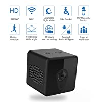 Mini Spy Camera WiFi, Jayol 1080P Hidden Camera Spy with Upgraded Night Vision and Motion Detection, Portable Home Security Camera/Nanny Cam, Pet and Baby Camera for Home/Office Security and Outdoor