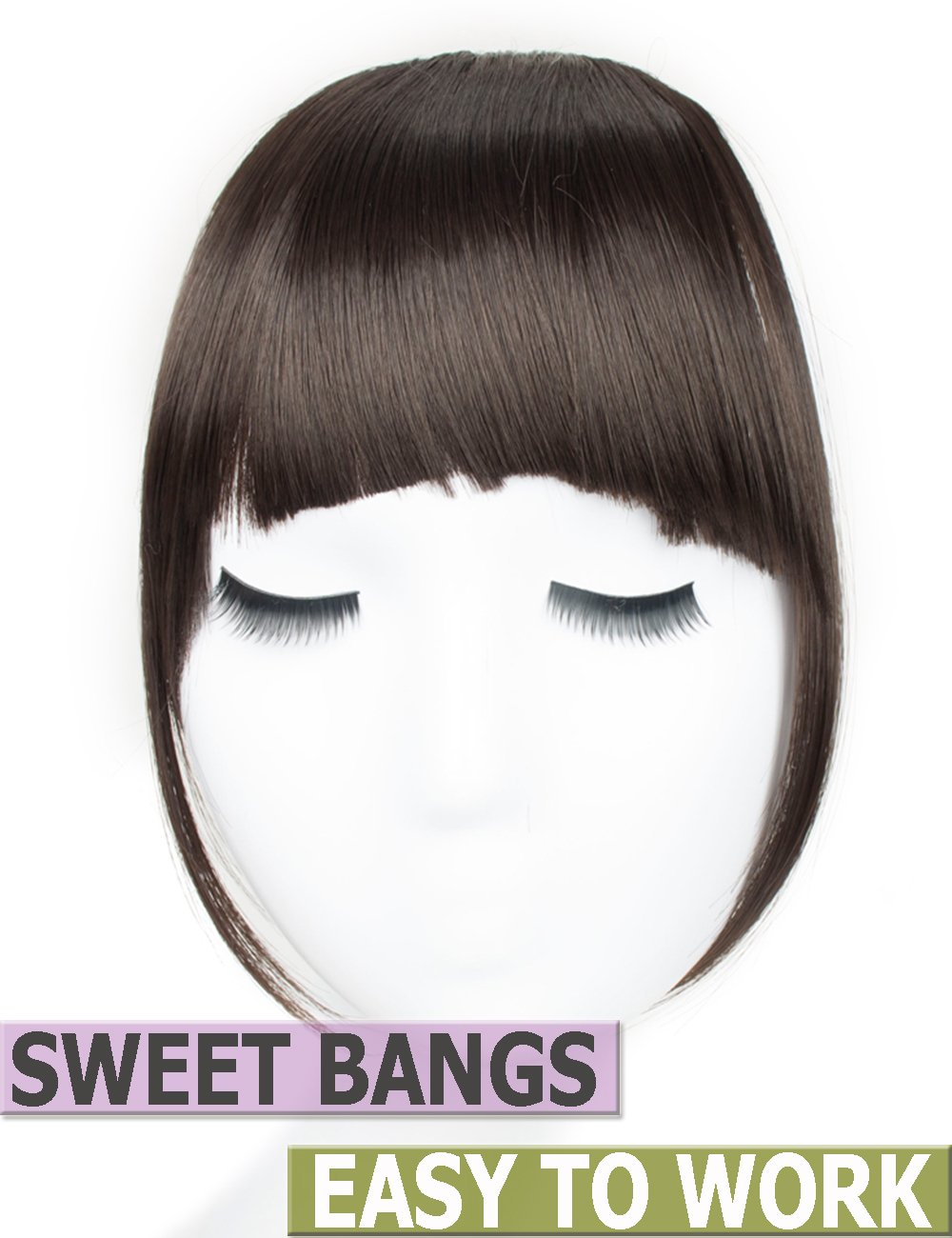 Amazon Clips In Hair Bangs Fringe Hair Extensions Clip On Bang