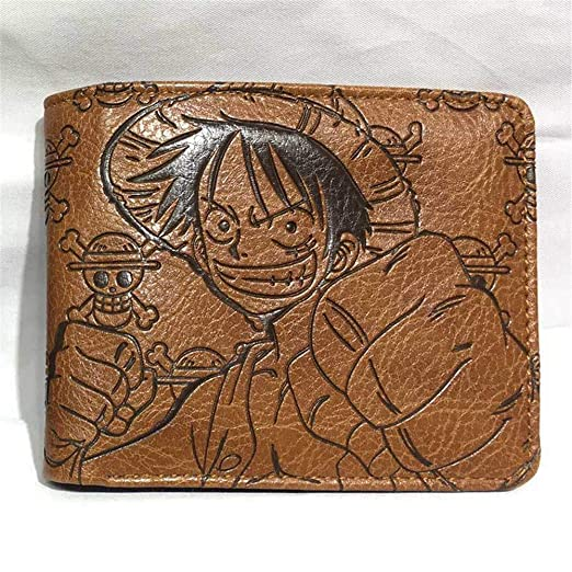 MOANKE One Piece Straw Hat Luffy Anime Wallet Short Two-Fold ...