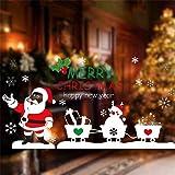 Heekpek® Natale Vetrofanie Rimovibile Adesivi Murali Fai da te Finestra Decorazione Vetrina Adesivi (B)