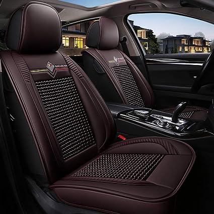 Ddsgg Auto Autositzbezüge 5 Sitze Universal Auto Sitzbezüge Pu Leder Auto Autositzbezüge Full Set Universal Fit Für Audi A3 A4 A5 A6 A8 Q3 Q5 Rs4 Brown 1 Küche Haushalt