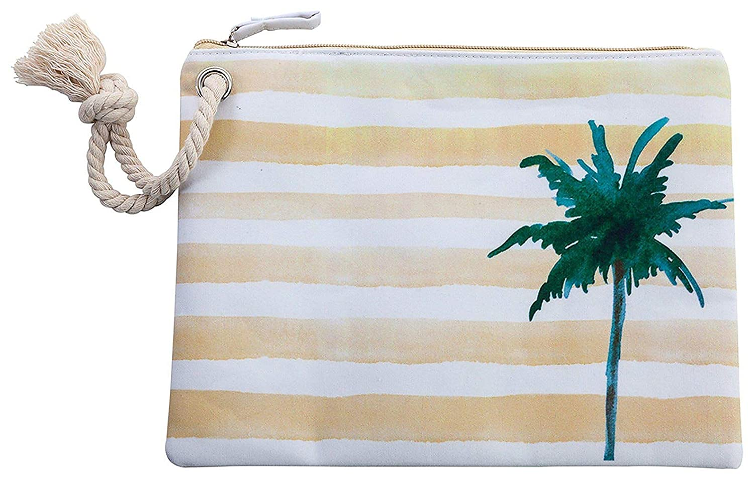 Agency avenuewatercolor Palm Tree and Striped Graphicビキニバッグ B06XXQKWFV