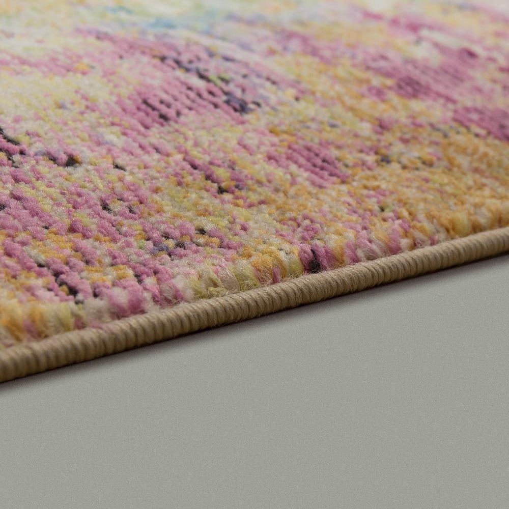Paco Home Designer Wohnzimmer Teppich Abstraktes Muster Pastellfarben Hochwertig Bunt, Bunt, Bunt, Grösse 200x290 cm 03b958