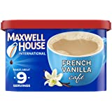 Maxwell House International French Vanilla Cafe Beverage Mix, 8.4 oz Canister