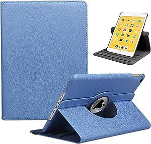 LRCXL iPad 9.7 2018/2017, iPad Air 2, iPad Air Case - Rotating Stand Protective Cover with Auto Sleep Wake for Apple New iPad 9.7 inch (6th Gen, 5th Gen) / iPad Air 2013 Model (Deep Blue)