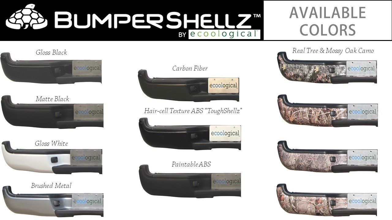 New BumperShellz Gloss Black Rear Bumper Cover For 14-18 Silverado Sierra w//s