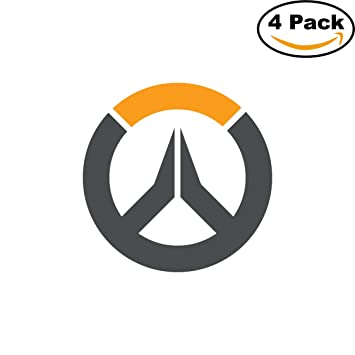 Overwatch game logo diecut vinyl sticker 4 stickers 4 inches