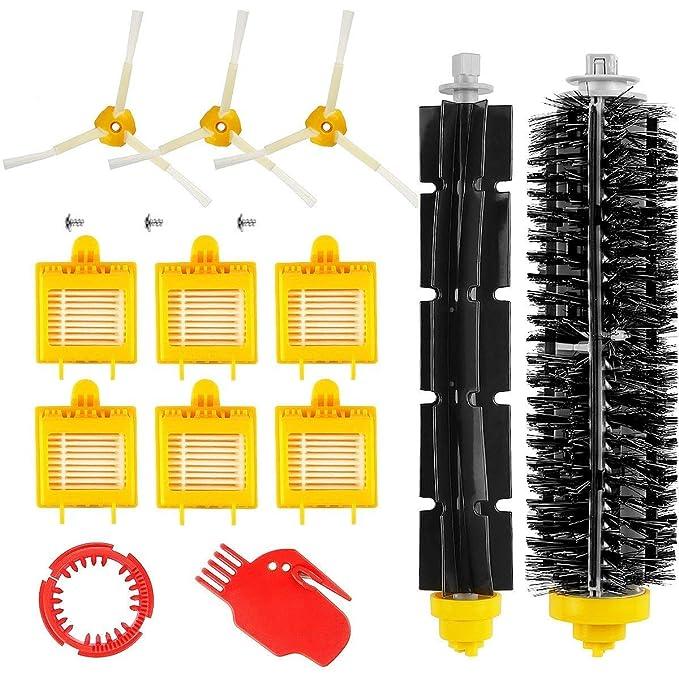 MTKD® Kit de 13 Repuestos para iRobot Roomba Serie 700 (700, 760, 770, 780 y 790) - Kit Accesorios de 13 Piezas(Cepillos Lateral, Filtros, Cepillo de ...