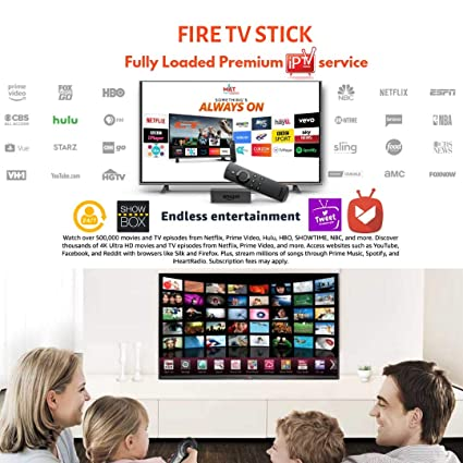 Amazon Fire TV Stick with New Alexa Voice Remote (2nd Generation) + Fully  Loaded 1Year Premium IPTV