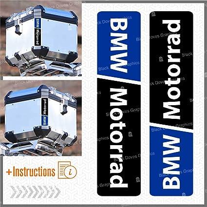 Blue 6pcs BMW Motorrad Autocollants R/éfl/échissants R 1200 1150 F 800 650 F700 GS A R1200GS R1200 Touratech Motorcycle Aluminium Panniers Sacs Lat/éraux Top Case