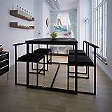 vidaXL Table de salle à manger et 4 chaises noir MDF