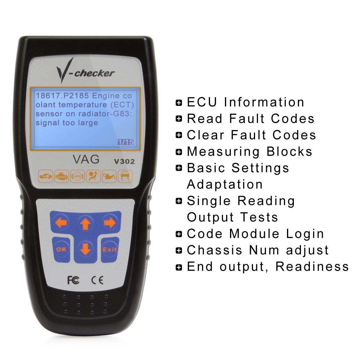 VAG Audi Volkwage Skoda Seat Scanner Vag Com Car Code Reader Fault Code Clear Diagnostic Scan Tool For VW Audi Skoda Seat by Autodiag (Image #3)