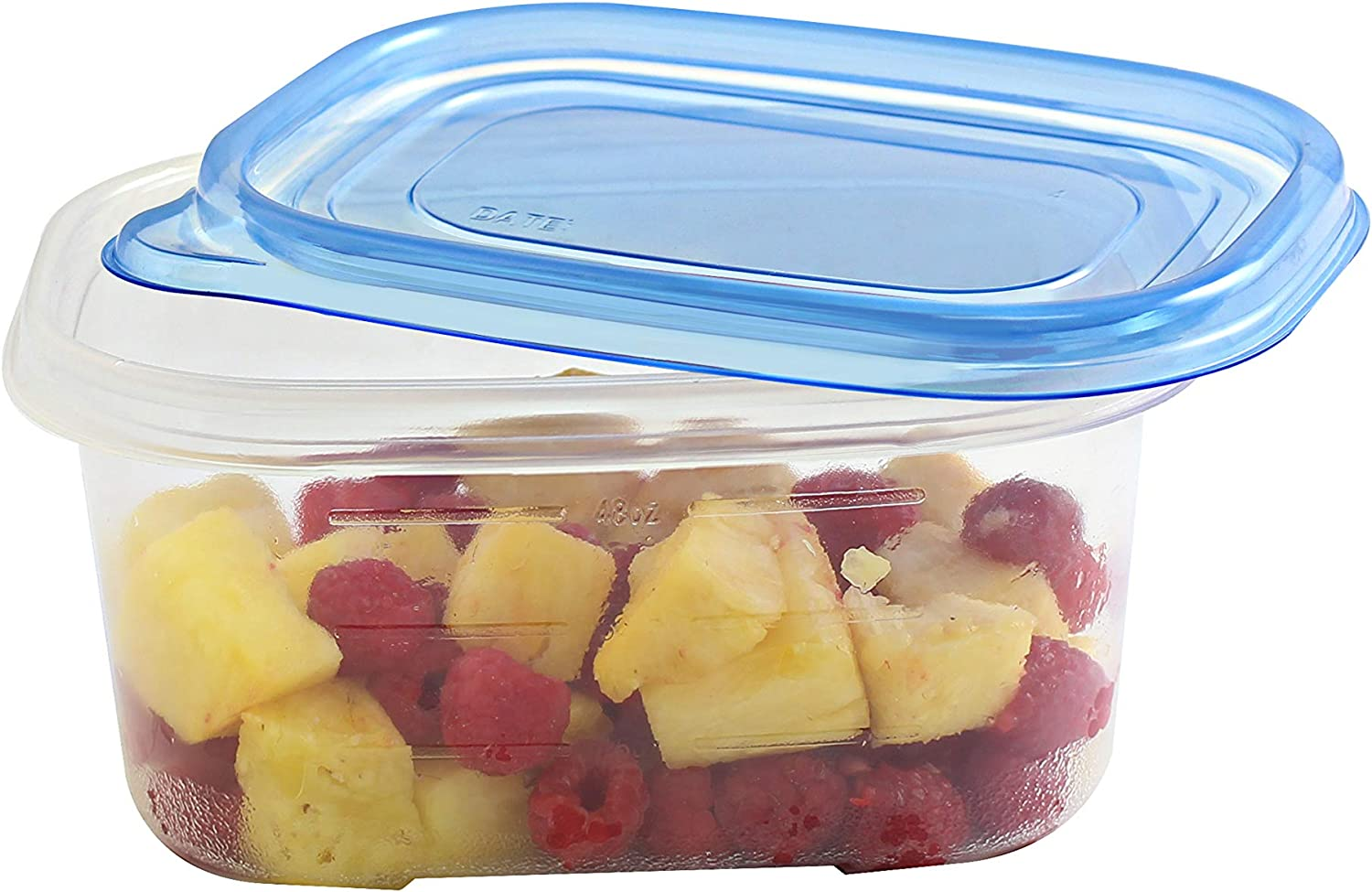 HomeyGear 5 Oblong Air-Tight Food Containers With Lids 24 Oz Stackable Reusable Plastic Storage Container 5 Pack