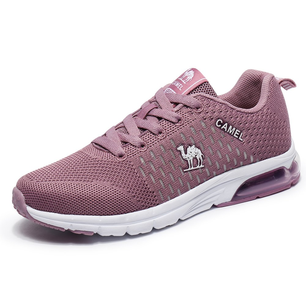 Camel Air Running Shoes Women Fly Knit Overpronation Lace-up Sports Athletic Sneakers Lightweight Non Slip A81397661-CLUS-F1