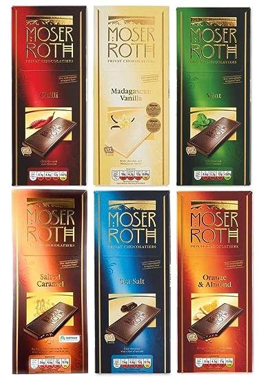 Aldi Moser Roth White Dark Chocolate Bar 125g X 6