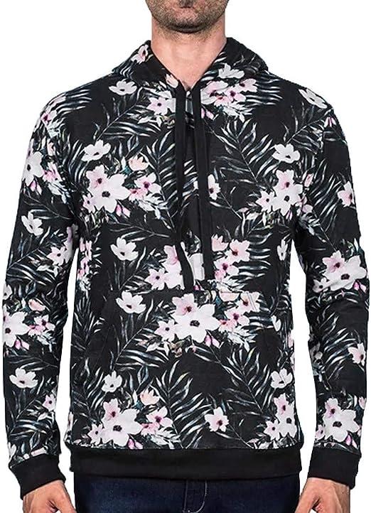 GREFER New Mens Long Sleeve Hoodie Hooded Sweatshirt Tops Jacket Coat Outwear