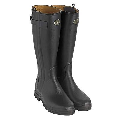 Le Chameau Men's Chasseur Leather Lined Boots Black | Boots