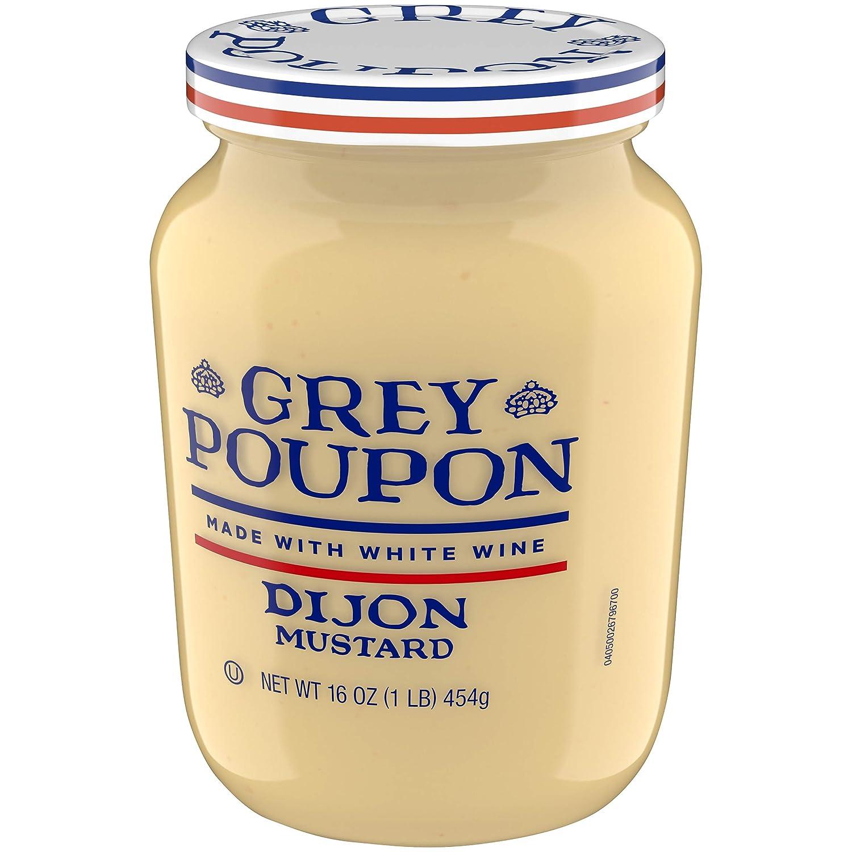 amazon com grey poupon dijon mustard 16 oz jar grocery