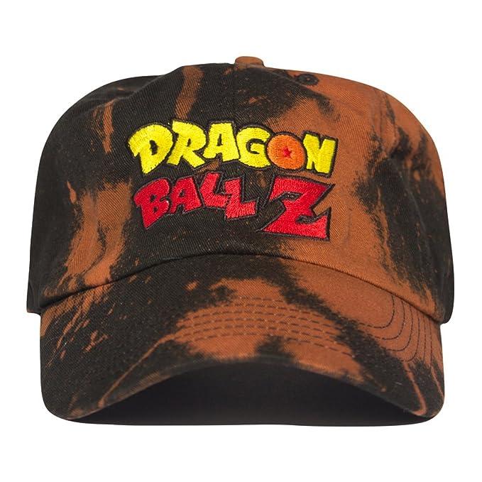 d1de25cf513 Uptop Studios Dragon Ball Z Dad Cap Hat - Black Bleached  Amazon.ca   Clothing   Accessories