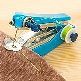 Handheld Sewing Machine - Portable Needlework Cordless Mini Hand-Held Clothes Fabrics Sewing Machine for Fabric Clothing Kids Cloth Pet Clothes (Random, 4.33''X2.75'')