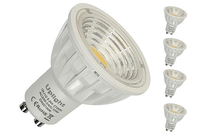 Regulable Gu10 Bombilla LED 550LM Equivalentes 50W Alta CRI RA90 Blanco cálido 2700K,Paquete de