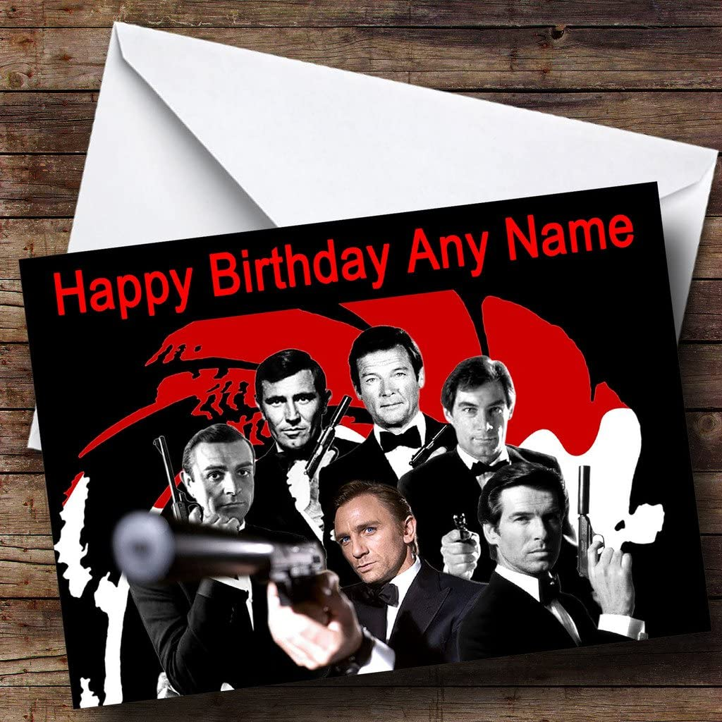 2 x James Bond 007 Personalised Birthday Banners