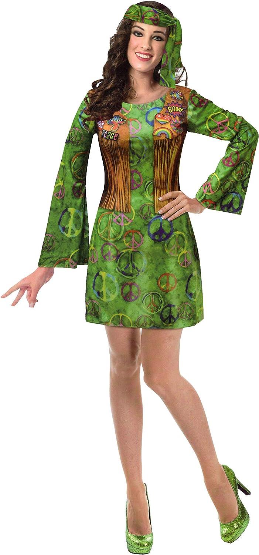 Brandsseller - Disfraz de hippie para hombre y mujer, varios tamaños