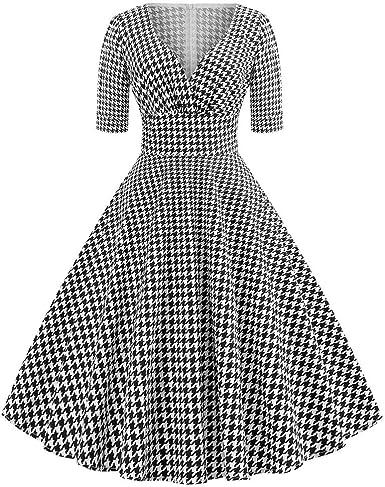 beautyjourney Vestido de cóctel Vintage de los años 50 para Mujer ...