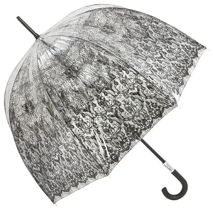 Jean Paul Gaultier de lujo damas diseñador de paraguas transparente mirada con lámina