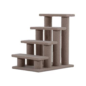 PawHut Animales Gato Escaleras Escalera Escalera Escalera para Perros y Gatos y Perros 4 Nivel marrón Claro 63,5 x 43 x 60 cm: Amazon.es: Productos para ...