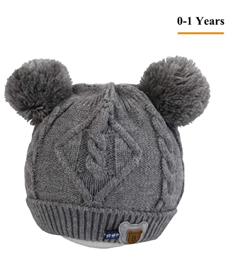 Baby Kids Winter Beanie Hat - Grey Toddler Girls Boys Infant Newborn knit  Warm Cap Outfits 1b06bea40832
