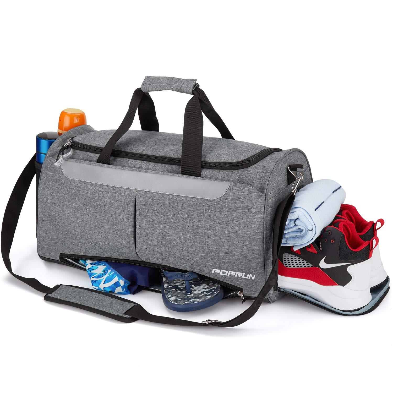 separada por mojado seco bolsa de lona para hombres y mujeres resistente al agua y duradera nataci/ón bolsa de viaje para yoga Bolsa de deporte con compartimento para zapatos y bolsillo h/úmedo
