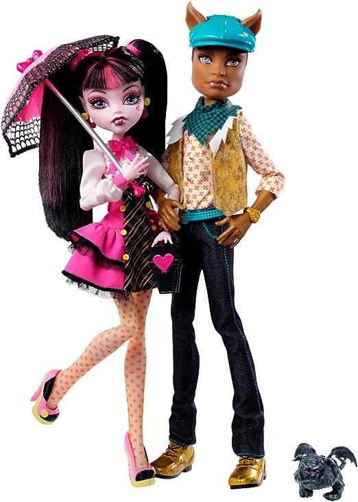 Monster High - Pack de 2 muñecas - Draculaura y Clawd Wolf (Mattel) + Mascota + Accesorios: Amazon.es: Productos para mascotas