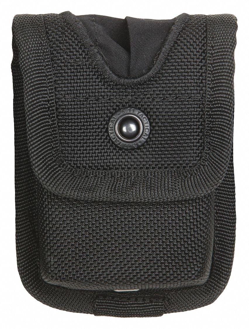 Glove Pouch, Black, Nylon, 1-1/4 in. W
