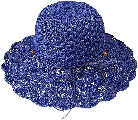 CGXBZA Sombreros para Mujer Hombre Gorras Crochet Plegable ...