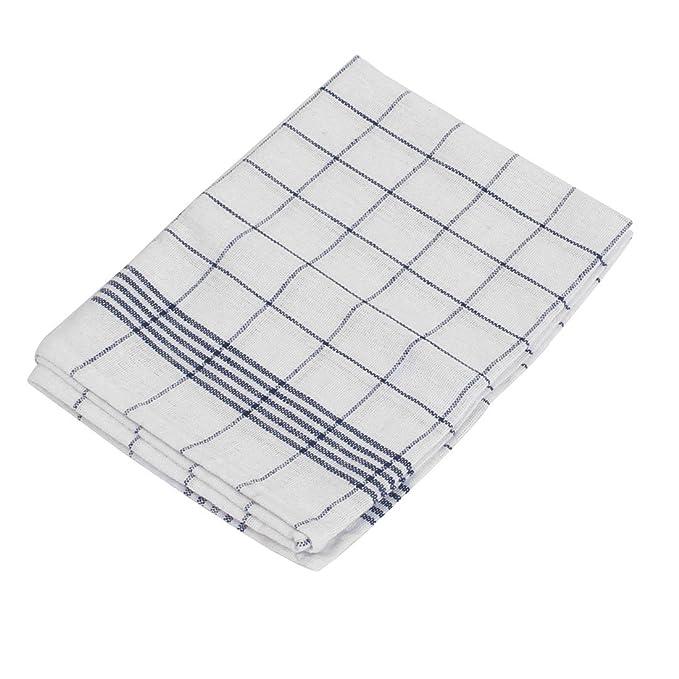 Amazon.com: eDealMax tela escocesa del algodón Inicio té de la cocina de toallas de tela Mantel Mantel Craft Azul marino: Kitchen & Dining
