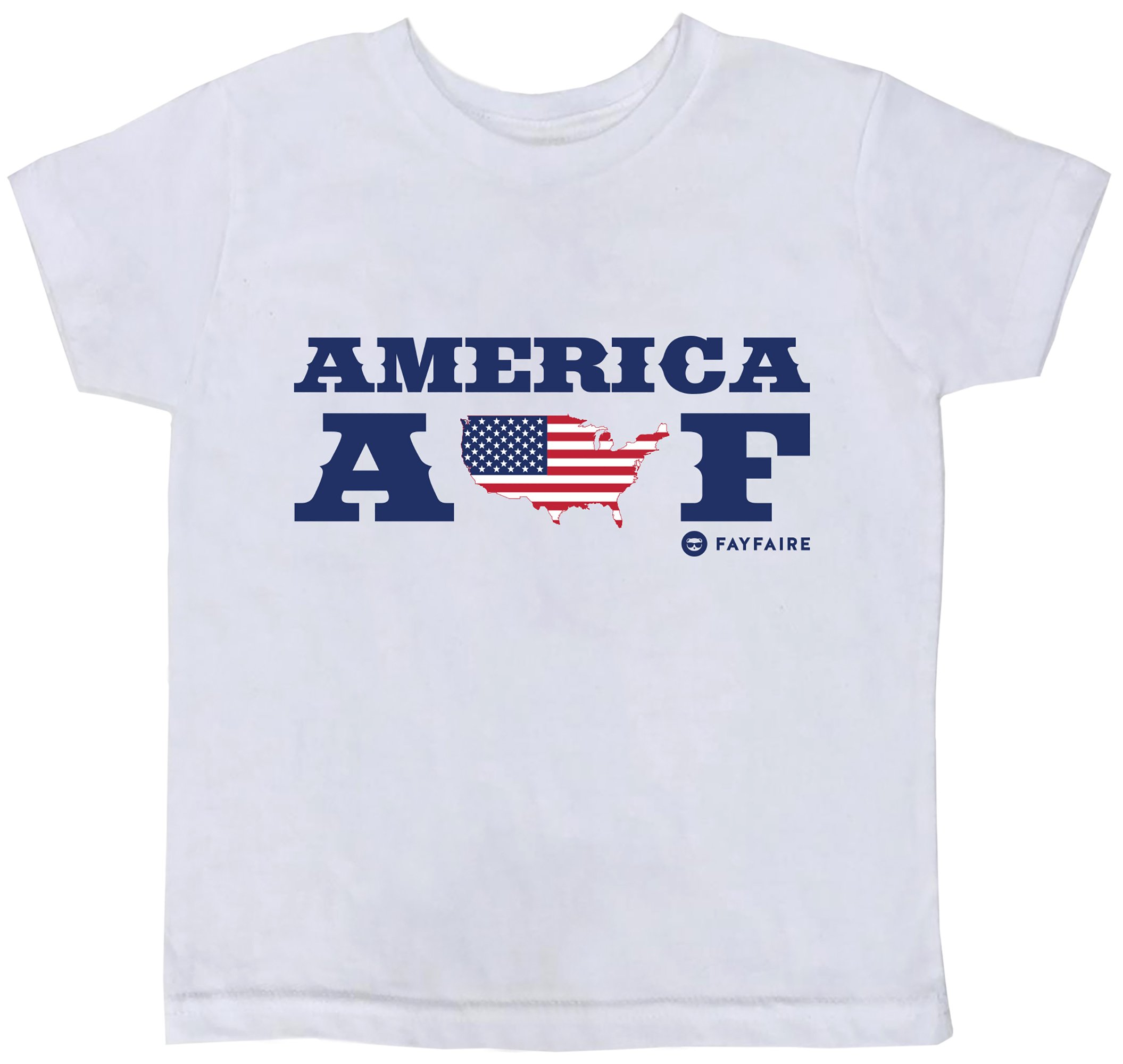 Fayfaire 4th of July Independence Day Shirts for Girls and Boys America AF 2T