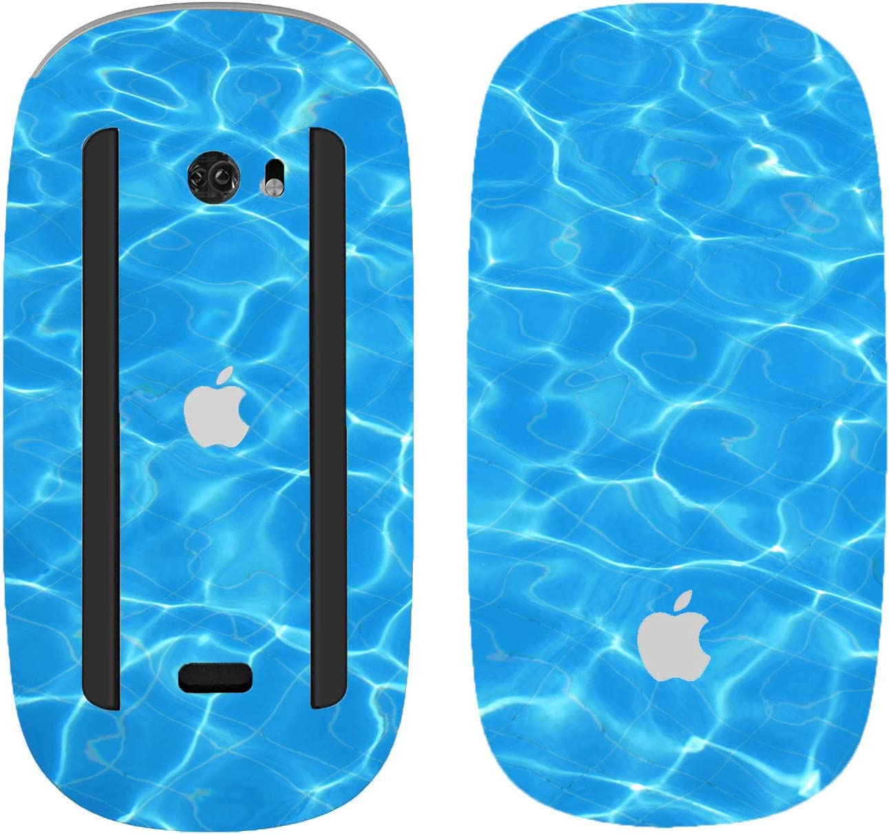 with Multi-Touch Surface Design Skinz Premium Vinyl Decal for The Apple Magic Mouse 2 Black and Teal Textured Marble 2 Wireless, Rechargable