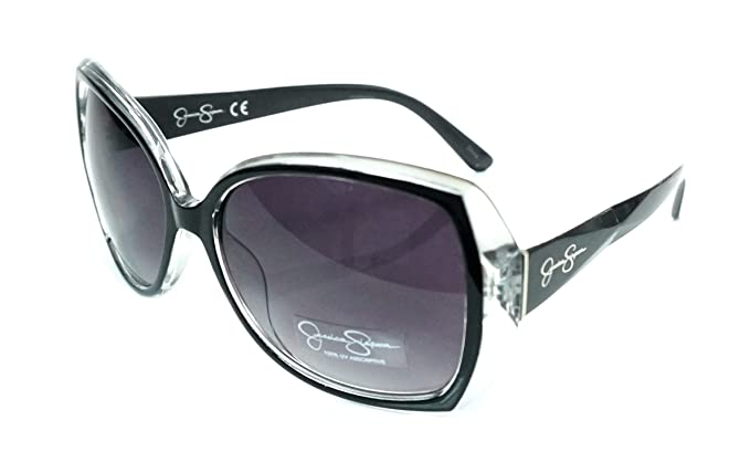 345ed3327c1a0 Image Unavailable. Image not available for. Color  Jessica Simpson J5234-OX  Womans Black Oversize Sunglasses
