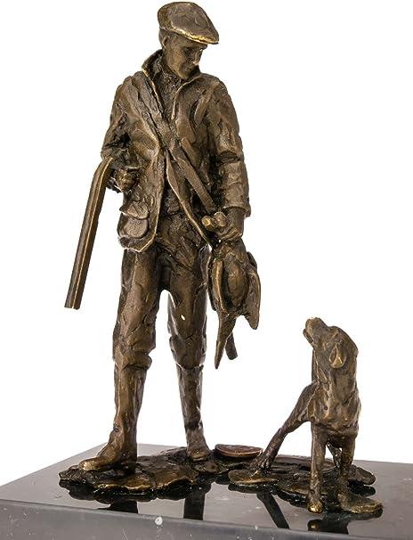 bronze style antique Statuette de chien de chasse
