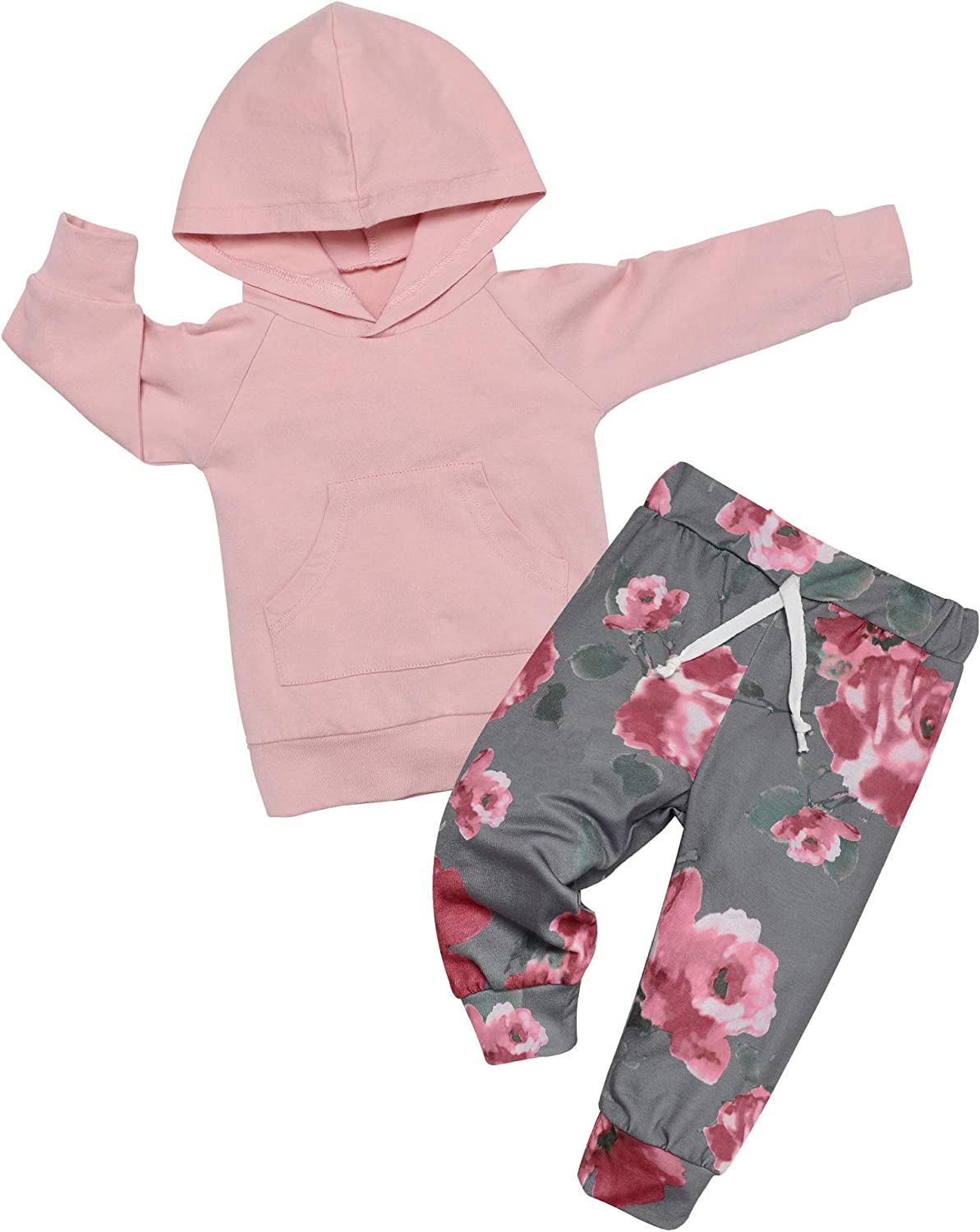 Newborn Baby Girl Clothes Outfits Infant Ruffle Romper Floral Pants Cute Toddler Baby Girl Clothes Set