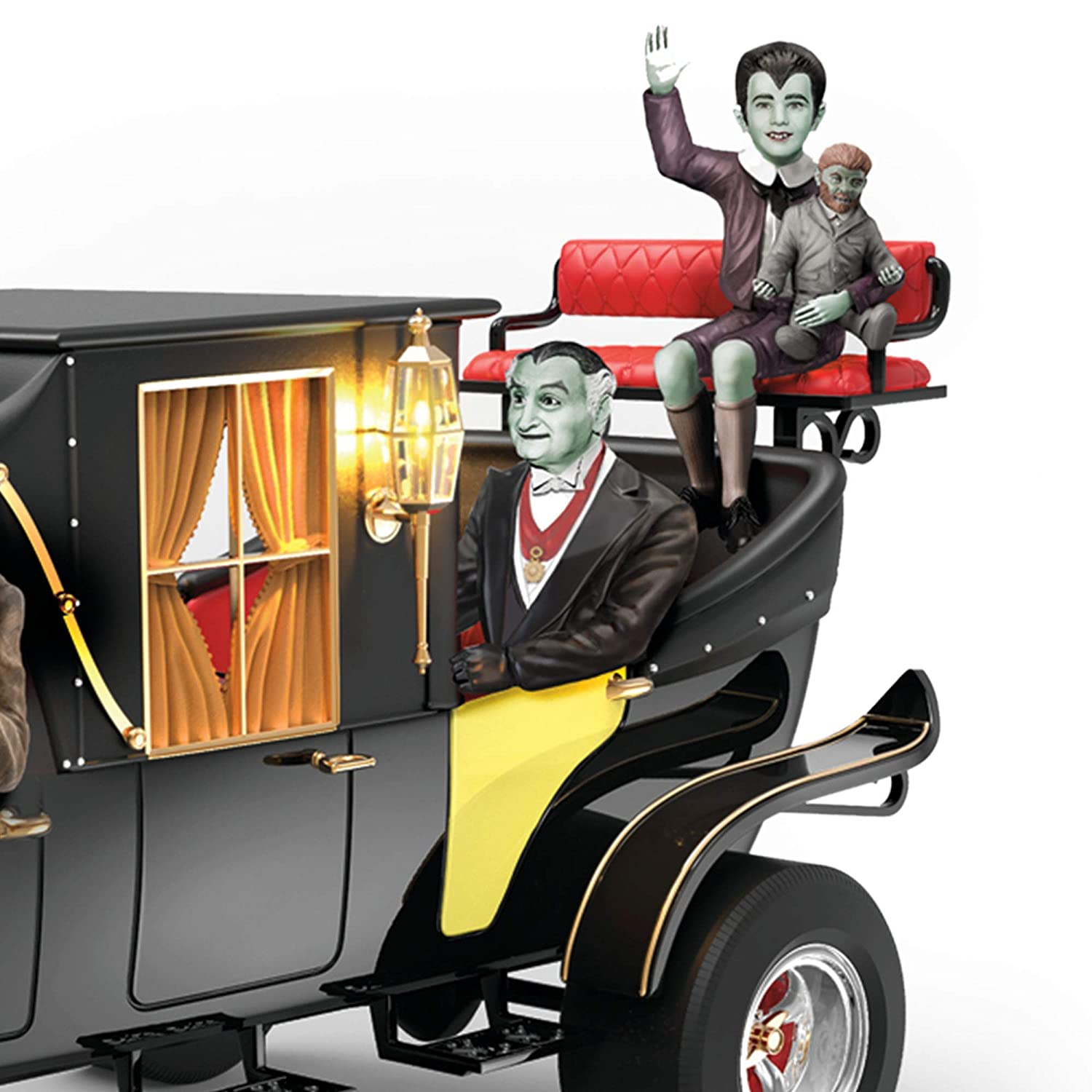 Officially Licensed Munsters/® Family Koach Coach Hearse Iluminated Sculpture The Munsters/® Family Koach Sculpture.Exclusive To The Bradford Exchang